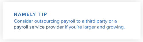 Namely Tip: Payroll Services Provider