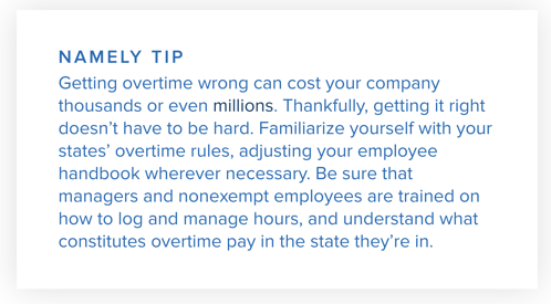 Namely Tip: Overtime Rules