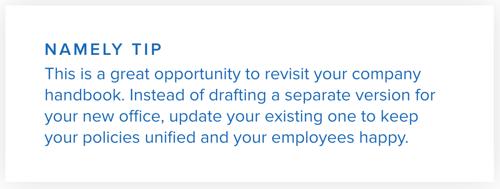 Namely Tip: Employee Handbook