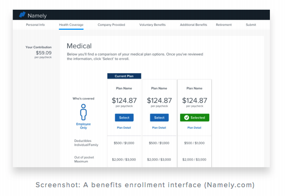Namely Benefits Portal